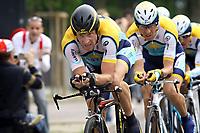 Sykling<br /> Giro di Italia<br /> 09.05.2009<br /> Foto: Photonews/Digitalsport<br /> NORWAY ONLY<br /> <br /> Lido di Venezia - Italia- wielrennen - cycling - radsport - cyclisme - 1e etappe ploegentijdrit Ronde van Italie - 110 jaar Giro di Italia - Team Astana met vooraan Lance Armstrong