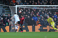 Football - 2019 / 2020 Premier League - AFC Bournemouth vs. Chelsea<br /> <br /> Marcos Alonso of Chelsea arrives late at the back post to head home a late Chelsea equaliser at the Vitality Stadium (Dean Court) Bournemouth <br /> <br /> COLORSPORT/SHAUN BOGGUST