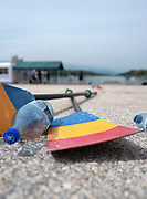 Plovdiv, Bulgaria, 9th May 2019, FISA, Rowing World Cup 1,  Romanian Sculls and empty water bottles,  [© Peter SPURRIER]
