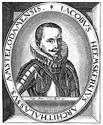 Jacob van Heemskerk (1567-1607). Dutch naval officer and explorer. Searched  for a Northeast Passage to China, 1595. Died at Gibraltar after defeating the Spanish fleet. From a contemporary engraving