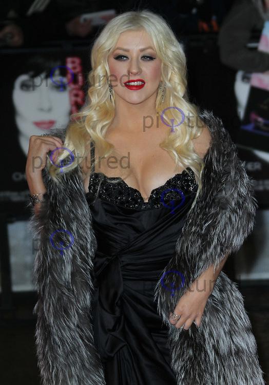 Christina Aguilera Burlesque UK film premiere, Empire Cinema, Leicester Square, London, UK, 13 December 2010:  Contact: Ian@Piqtured.com +44(0)791 626 2580 (Picture by Richard Goldschmidt)
