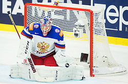 Sergei Bobrovski of Russia during Ice Hockey match between Russia and Denmark at Day 6 in Group B of 2015 IIHF World Championship, on May 6, 2015 in CEZ Arena, Ostrava, Czech Republic. Photo by Vid Ponikvar / Sportida