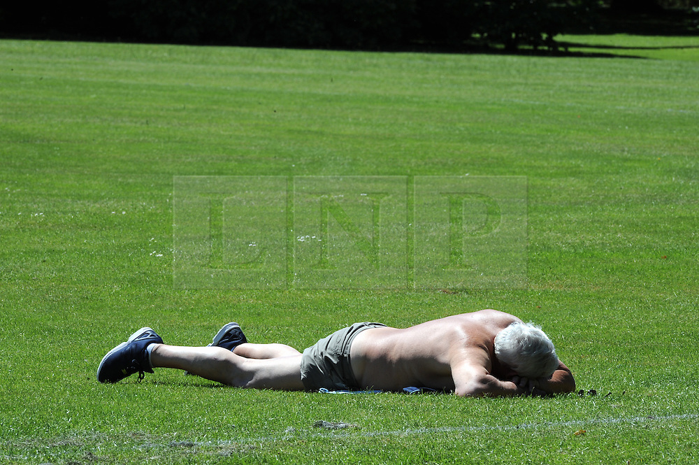 © Licensed to London News Pictures. 10/06/2014<br /> Royal Greenwich Park rose garden.<br /> Greenwich Park sunny weather today (10.06.2014)<br /> People enjoying the sunny weather in Greenwich Park,Greenwich,London.<br /> (Byline:Grant Falvey/LNP)