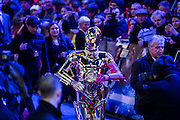 C3PO - The European Premiere of STAR WARS: THE FORCE AWAKENS - Odeon, Empire and Vue Cinemas, Leicester Square, London.