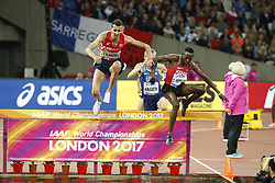 Kenya's Concesius Kipruto won the final of the 3000 meters steeple-chase men event during the IAAF World Athletics 2017 Championships In Olympic Stadium, Queen Elisabeth Park, London, UK on August 8, 2017 Photo by Henri Szwarc/ABACAPRESS.COM