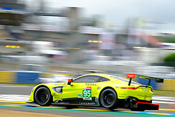 June 15, 2018 - Le Mans, Sarthe, France - Aston Martin Racing ASTON MARTIN Vantage AMR Driver DARREN TURNER (GBR) in action during the 86th edition of the 24 hours of Le Mans 2nd round of the FIA World Endurance Championship at the Sarthe circuit at Le Mans - France (Credit Image: © Pierre Stevenin via ZUMA Wire)
