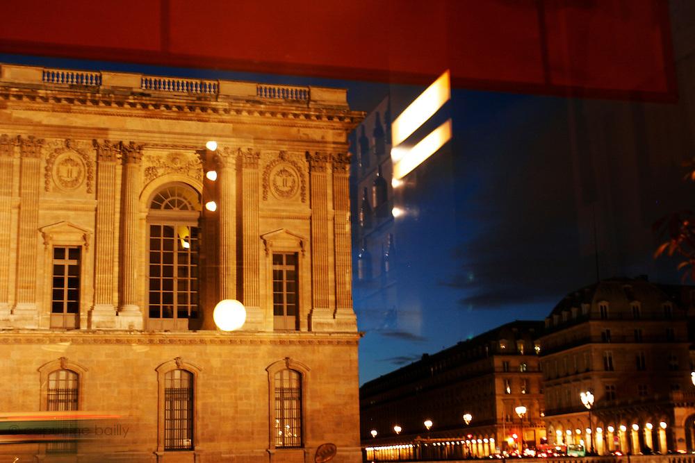 Paris, France. February 18th 2006..Rue de l'Amiral de Coligny, at the corner with rue de Rivoli. .1st Arrondissement...