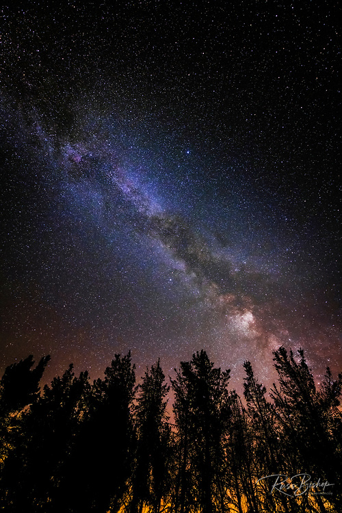 The Milky Way over Rose Valley, Los Padres National Forest, California USA