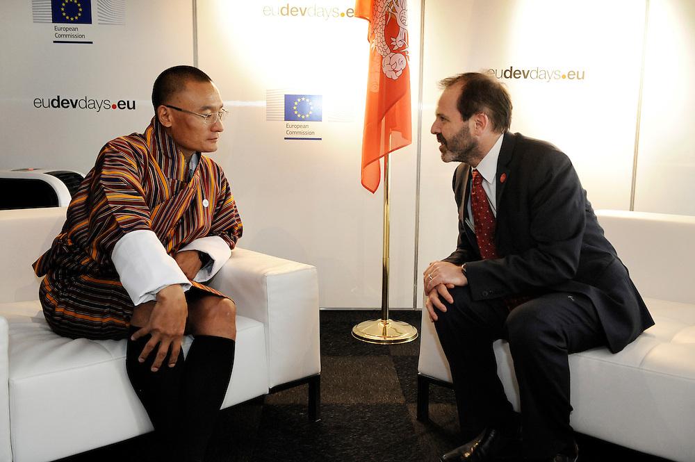 20150603- Brussels - Belgium - 03 June2015 - European Development Days - EDD  - Bilateral Meeting  Tshering Tobgay Prime Minister of Bhutan and Alex Their from Usaid.  © EU/UE