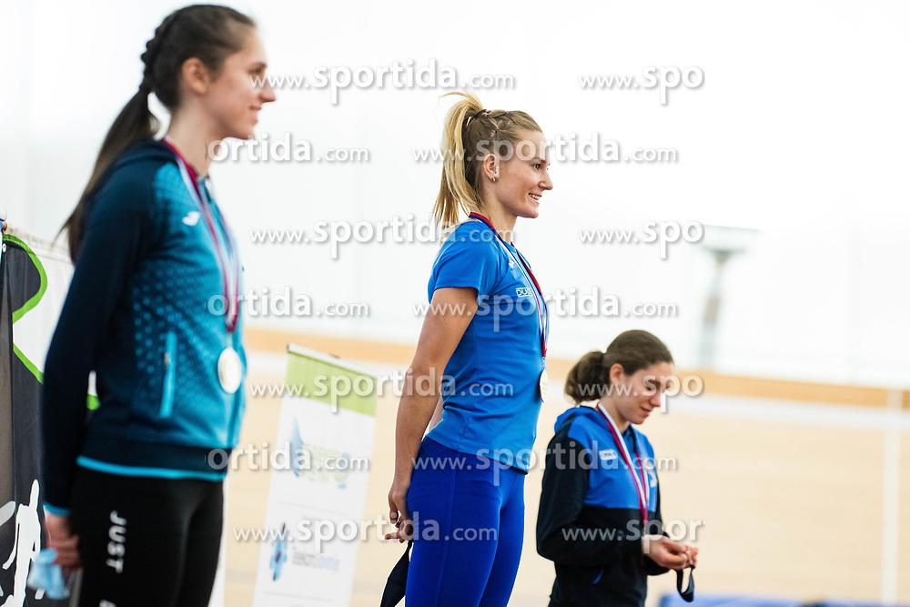 Neja Filipic during medal ceremony at Slovenian Indoor Championship, Olympic centre Novo Mesto, 13 February 2021, Novo Mesto, Slovenia. Photo by Grega Valancic / Sportida