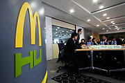 Students attend a management training class at the McDonalds Hamburger University in Shanghai, China on Thursday, 13 january 2011. McDonalds claim that the university's selection criteria is even more stringent than that of Harvard.