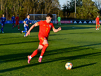Football - 2023 UEFA U21 Championship - Qualifying - Group E - Wales vs Moldova - Steboneath Park, Llanelli<br /> <br /> Niall Huggins Wales on the attack<br /> <br /> COLORSPORT/WINSTON BYNORTH