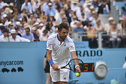 June 20, 2018 - London, United Kingdom - Sam Querrey the U.S. during the second round singles match on day three of Fever Tree Championships at Queen's Club, London on June 20, 2018. (Credit Image: © Alberto Pezzali/NurPhoto via ZUMA Press)