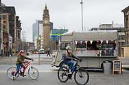The Albert Memorial Clock at Queen's Square in Belfast, Northern Ireland