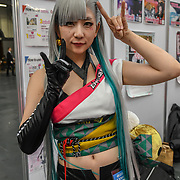 Naomi Suzuki is a singer at Hyper Japan Festival 2019 on 12 July 2019, Olympia London, UK.