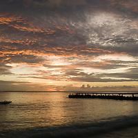 Fare, Huahine, French Polynesia, sunset