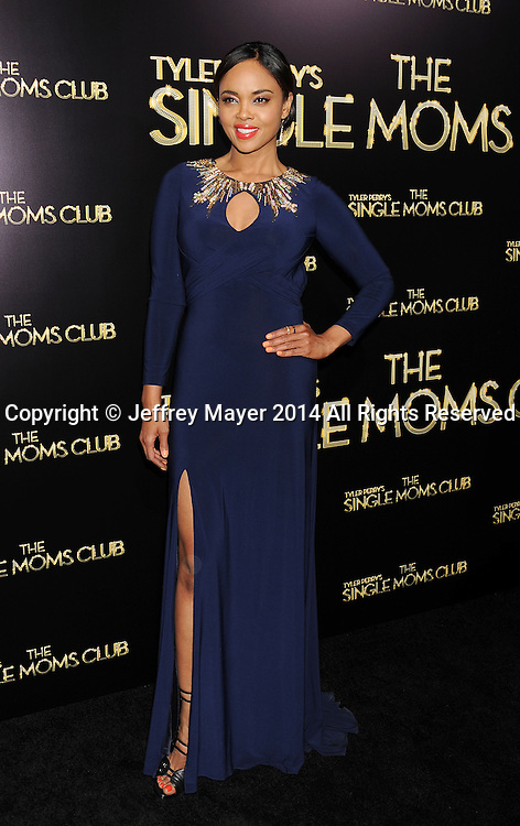 HOLLYWOOD, CA- MARCH 10: Actress Sharon Leal arrives at the Los Angeles premiere of Tyler Perry's 'The Single Moms Club' at the ArcLight Cinemas Cinerama Dome on March 10, 2014 in Hollywood, California.