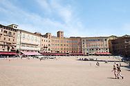 Siena - Plaza del Campo - the main square where the Palio horse races are run