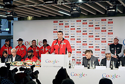 Wladimir KLITSCHKO// during a press conference of WBO, IBF and WBA Heavyweight World Championship fight between Marius Wach and Wladimir Klitschko at Google Germany, Hamburg, Germany on 2012/11/05. EXPA Pictures © 2012, PhotoCredit: EXPA/ Eibner/ Andre Latendorf..***** ATTENTION - OUT OF GER *****
