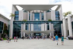 View of German Chancellor`s building the Bundeskanzleramt during Open Doors Day in Berlin Germany