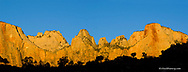 Towers of the Virgin at sunrise in Zion National Park in Utah