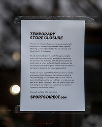 Sports Direct on Princes Street. Edinburgh on the day after the Lockdown.