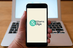 Williams and Glyn bank homepage on smart phone home page