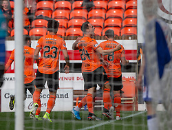Dundee United's Lawrence Shankland celebrates after scoring their second goal. half time : Dundee United 3 v 0 Morton, Scottish Championship game played 28/9/2019 at Dundee United's stadium Tannadice Park.