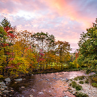 Sunset over a river in NH. <br /> <br /> All Content is Copyright of Kathie Fife Photography. Downloading, copying and using images without permission is a violation of Copyright.