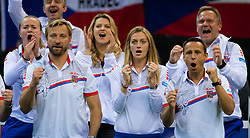 November 10, 2018 - Prague, Czech Republic - Petra Kvitova of the Czech Republic cheers on her team mates at the 2018 Fed Cup Final between the Czech Republic and the United States of America (Credit Image: © AFP7 via ZUMA Wire)
