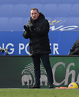 Football - 2020 / 2021 Premier League - Leicester City vs Liverpool - King Power Stadium<br /> <br /> Leicester City manager Brendan Rodgers shouts instructions to his team from the technical area.<br /> <br /> COLORSPORT/ASHLEY WESTERN