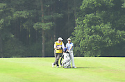 2001 Weetabix Women's British Open, Sweden's Carin Koch,chat's withe her caddy, Sunningdale Golf Course, Berks, Great Britain<br />  <br /> [Mandatory Credit Peter Spurrier/Intersport Images]<br /> <br /> Friday 3rd August 2001