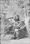 """Renaissance Faire, November 1, 1969"" (The first Oregon Country Fair) Eugene, Oregon."