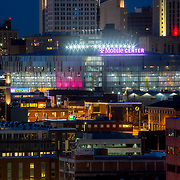 Kansas City MO, TMobile Center following rebranding in aftermath of Sprint buyout by TMobile.