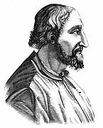 Ludovico Ariosto (1474-1533) Italian poet; author of the epic poem 'Orlando Furioso' (1516). Engraving