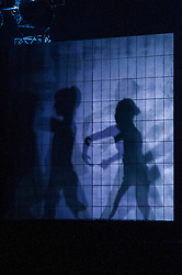 Pictured:<br /> <br /> Dancers Tobias Batley and Martha Leebolt, who take the lead roles in 1984,  performed in full costume ahead of the premier of the ballet in the Festival Theatre, Edinburgh. 31 March 2016 tonight. The ballet runs until Saturday 2 April.<br /> <br /> Ger Harley | Edinburghelitemedia.co.uk