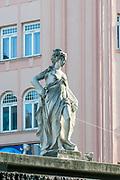 Classic style statue at Haus des Meeres Aqua Terra Zoo square, Vienna, Austria