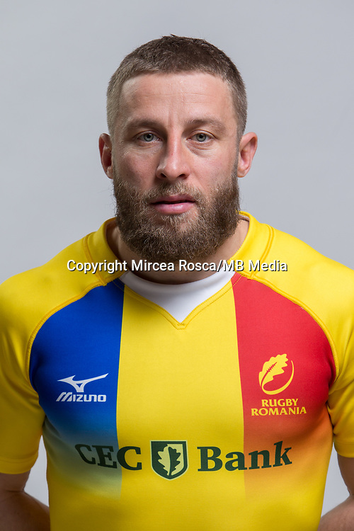 CLUJ-NAPOCA, ROMANIA, FEBRUARY 27: Romania's national rugby player Florin Surugiu pose for a headshot, on February 27, 2018 in Cluj-Napoca, Romania. (Photo by Mircea Rosca/Getty Images)