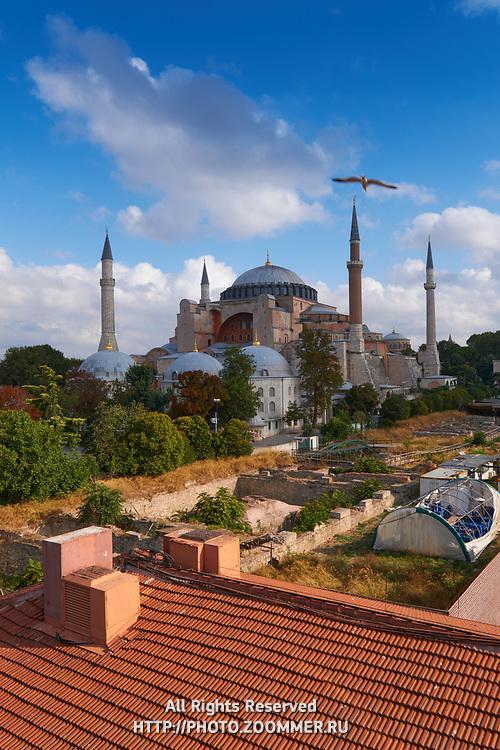 Classic view of Hagia Sophia, Istanbul