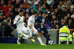 November 26, 2019, Madrid, MADRID, SPAIN: Kylian Mbappe of Paris Saint-Germain and Dani Carvajal of Real Madrid during the UEFA Champions League football match, Group A, played between Real Madrid and Paris Saint-Germain at Santiago Bernabéu Stadium on November 26, 2019, in Madrid, Spain. (Credit Image: © AFP7 via ZUMA Wire)