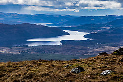 Loch Nant  from the Cruachan Dam and Reservoir to Loch Awe, in Argyll and Bute, Scotland.