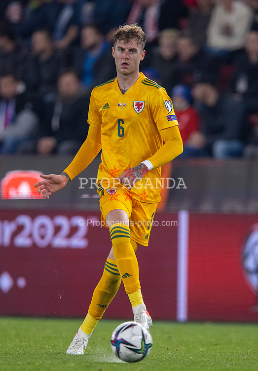 PRAGUE, CZECH REPUBLIC - Friday, October 8, 2021: Wales' Joe Rodon during the FIFA World Cup Qatar 2022 Qualifying Group E match between Czech Republic and Wales at the Sinobo Stadium. The game ended in a 2-2 draw. (Pic by David Rawcliffe/Propaganda)