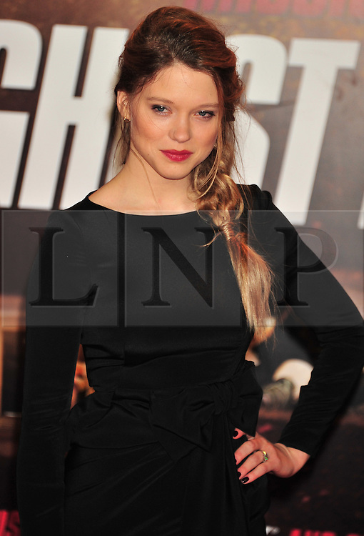 © Licensed to London News Pictures. 13/12/2011. London, England.Lea Seydoux attends the UK premiere of Mission Impossible - Ghost Protocol at the IMAX in London .  Photo credit : ALAN ROXBOROUGH/LNP
