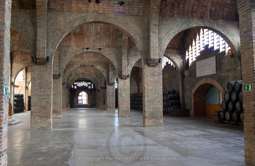 Storage and festivites hall. Codorniu, Sant Sadurni d'Anoia, Penedes, Catalonia, Spain