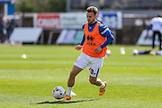 Bristol Rovers Matt Taylor warming up prior to the match during the Sky Bet League 2 match between Bristol Rovers and Exeter City at the Memorial Stadium, Bristol, England on 23 April 2016. Photo by Shane Healey.