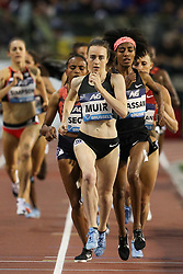 BRUSSELS, Sept. 1, 2018  Laura Muir of Britain competes the women's 1,500m race at the IAAF Diamond League athletics meeting in Brussels, Belgium, Aug. 31, 2018. Laura Muir claimed the title in a time of 3 minutes and 58.49 seconds. (Credit Image: © Zheng Huansong/Xinhua via ZUMA Wire)