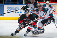 KELOWNA, CANADA - JANUARY 3: Brad Morrison #9 of Prince George Cougars skates against the Kelowna Rockets on January 3, 2015 at Prospera Place in Kelowna, British Columbia, Canada.  (Photo by Marissa Baecker/Shoot the Breeze)  *** Local Caption *** Brad Morrison;