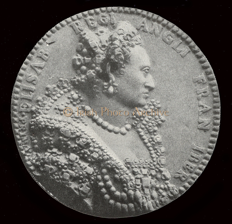 Cameo depicting Queen Elizabeth I of England.  Elizabeth I (7 September 1533 – 24 March 1603)  Queen of England and Ireland from 17 November 1558 until her death In 1603