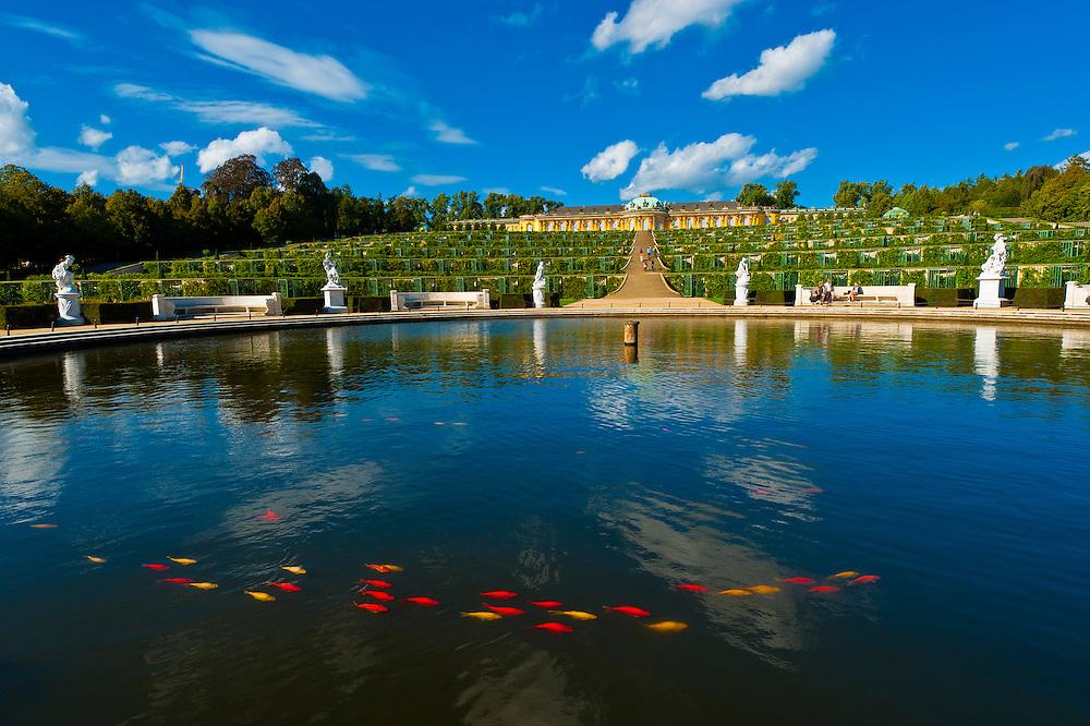 Sanssouci Palace, Sanssouci Park (a UNESCO World Heritage site), Potsdam, Germany