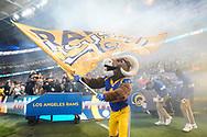 LA Rams mascot, Rampage during the International Series match between Los Angeles Rams and Cincinnati Bengals at Wembley Stadium, London, England on 27 October 2019.